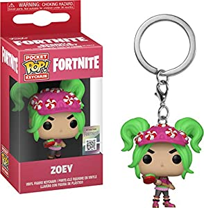 Funko- Keychain Pocket Pop Fortnite Zoey Figura de Vinilo, Multicolor (1)
