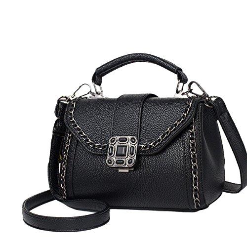 Frauen Handtaschen Umhängetasche Messenger Tasche Freizeit Mode Mode Wild Black