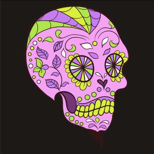 T-Shirt - Frankly Skull 06 - Totenkopf - Sugar Skull - Herren - unisex Schwarz