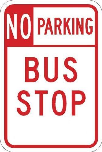 Keine (in Karton) Standlicht Bus Stop 12x 185052-aluminum Schild Blechschilder Vintage Road Schilder Dose Teller Schilder dekorativer rot auf weiß