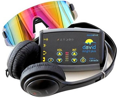 DAVID Delight Plus with Multi-Color Eyeset | Light and Sound Device | MInd Alive's best value for money Mind Machine | Used for Brain Training and...