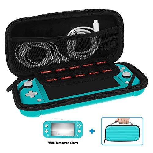 Y Team Etui pour Switch Lite avec 1 x Protection Écran, Housse de Protection avec 10 Slots pour Nintendo Switch Lite (Vert)