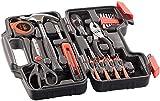 AGT Werkzeugkasten: Werkzeugset im Koffer WZK-391, 39-teilig (Werkzeugsatz)