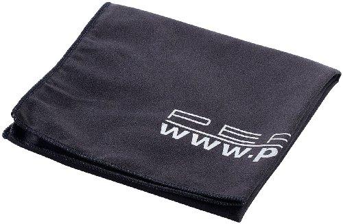 PEARL Tücher: Extra saugfähiges Mikrofaser-Handtuch, 80 x 40 cm, schwarz (Sport-Handtuch)