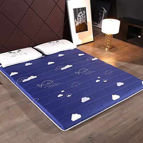 Dgpoad pieghevole materasso tatami stuoie bed ground materasso letto futon tradizionale matrimoniale singolo dormitori campeggio firm cotone futon portatile fodera,f,90x200cm