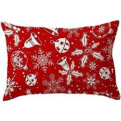 Rumas de Noël de voiture Taie d'oreiller rectangulaire Canapé Taille Throw Housse de coussin Home Decor, Mélange lin, G, 30*50cm