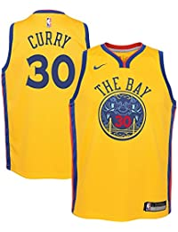 Nike NBA Golden State Warriors Stephen Curry Youth Swingman Jersey - City Edition Youth Small