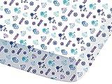 CTI 044682los Minions Dance sábana bajera para niño algodón azul 190x 90cm