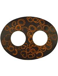 1World Sarongs Pareo de canela con incrustaciones Corbatas