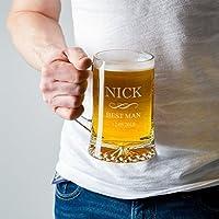 Engraved Best Man Tankard/Groomsman Tankard/Personalised Wedding Tankard Pint Glass/Personalised Groomsmen Gifts/Engraved Best Man Gift