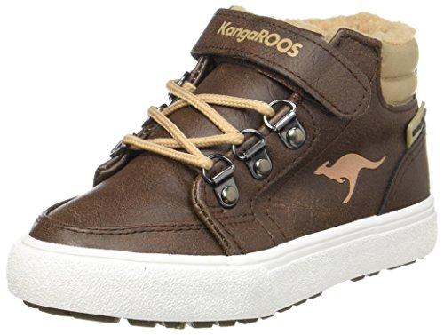 KangaROOS Unisex-Kinder Nery Hohe Sneaker, Braun (Saddle Brown/Beige), 39 EU