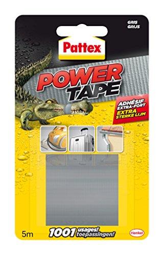 Pattex - Adhésif - Power Tape - Imperméable - 5 mtr - Gris