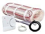 Warm-On Heizmatten Komplett-Set 150 W/m² - 3,8 m² inklusive Analog-Thermostat, AM902306
