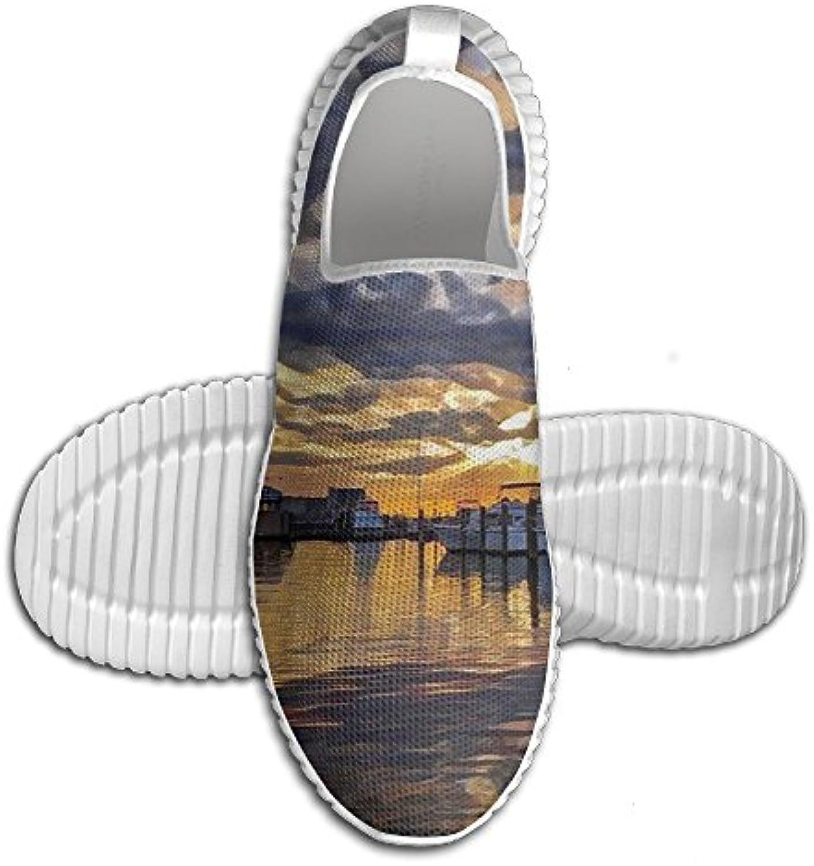 d80ec7a80 George George George Oy Harbor Boat Painting Sneakers Running ...
