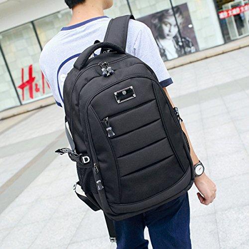 Freizeit Rucksack Computer Tasche Student Tasche,Blue Black
