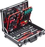 Meister Werkzeugkoffer 131-teilig - mit Qualitätswerkzeug von Knipex und Wera - Stabiler Alu-Koffer/ Profi Werkzeugkoffer Befüllt/ Werkzeugkiste/ Werkzeugbox komplett mit Werkzeug/ 8973750