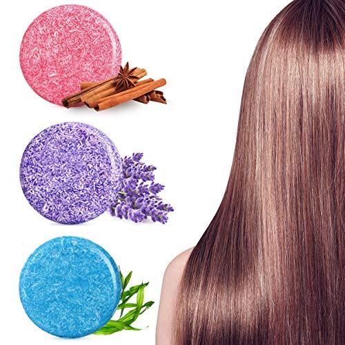 Frcolor Shampoo Soap Bar Conditioner Organic Handgemachtes Seife Naturshampoo Haarseife fest Shampoo für Männer und Frauen, 3 Pack