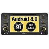 Pumpkin Android 8.0 Autoradio Moniceiver für BMW 3er E46 mit Navi Unterstützt Bluetooth DAB + USB CD DVD WLAN 4G Android Auto MicroSD 1 Din 7 Zoll Bildschirm