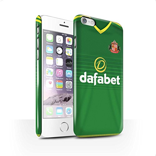 Officiel Sunderland AFC Coque / Clipser Brillant Etui pour Apple iPhone 6 / Pack 24pcs Design / SAFC Maillot Extérieur 15/16 Collection Footballeur
