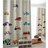 GWELL Kinderzimmer Gardinen Vorhang Blickdicht Ösenschal Dekoschal für Wohnzimmer Schlafzimmer 1er-Pack 270x130cm(HxB)Auto