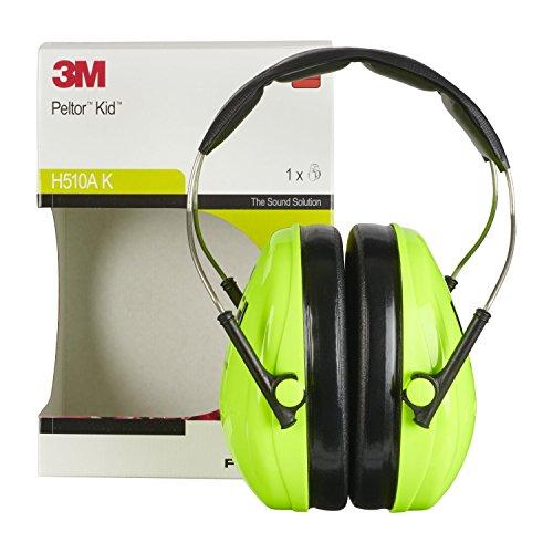 3M Peltor Kid Kapselgehörschützer neongrün / Kinder Gehörschutz mit verstellbarem Kopfbügel für Lärm bis 98dB / SNR 27 Hörschutz mit hohem Tragekomfort & geringem Gewicht - 5
