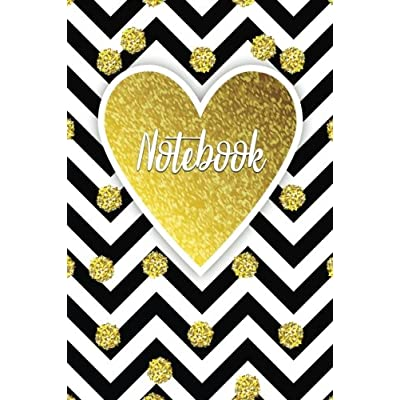 Notebook: Gorgeous Gold Trendy Journal | 120-Page Blank Page Pretty Gold Notebook | 6 X 9 Perfect Bound Softcover