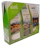 Biova 3er Geschenkbox (Italienisches Meersalz, Kala Namak Salz und Bolivianisches Rosensalz)