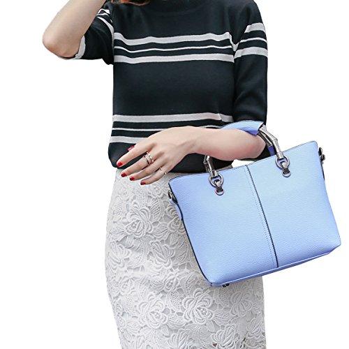 DISSA S849 neuer Stil PU Leder Deman 2018 Mode Schultertaschen handtaschen Henkeltaschen,310×105×210(mm) Blau