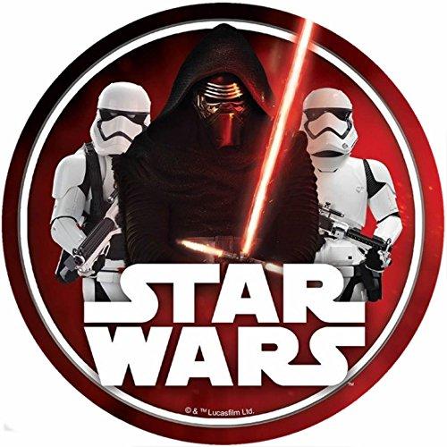Star Wars Runde Torten Druck Bild auf A4