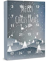 """SIX """"Weihnachten"""" Damen Schmuck Adventskalender 24-teilig Geschenke Überraschungen Adventszeit XMAS Ohrringe Ketten Ringe Armbänder"""