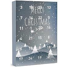 """SIX """"Weihnachten"""" Damen Schmuck Adventskalender 24-teilig Geschenke Überraschungen Adventszeit XMAS Ohrringe Ketten Ringe Armbänder (388-299)"""