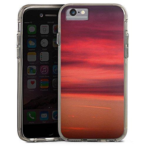 Apple iPhone 7 Bumper Hülle Bumper Case Glitzer Hülle Sonnenuntergang Himmel Romantik Bumper Case transparent grau