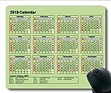 2019 Kalender-Mauspad, Kalenderschule Gaming-Mauspads, Kalenderplaner 2019 mit Feiertagsdetails