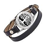 unisex - aroma - öl diffusor armband / duft aus rostfreiem stahl das armband mit ledergürtel (stil 11)