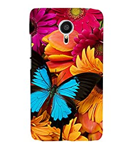 Citydreamz Butterflies\Flowers Hard Polycarbonate Designer Back Case Cover For Meizu MX5/Meizu MX 5