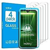 apiker (4 Stück Schutzfolie für Motorola G7/G7 Plus, Moto G7/G7 Plus Panzerglas, 9H Härte, Bläschenfrei, 2.5D abger&et Kante, mühelosanzubringen