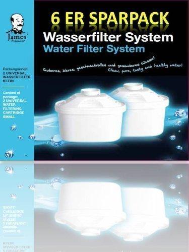 Wasserfilterkartuschen Pack 6, Wasser Filter Kartuschen 6er Pack