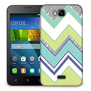 Snoogg Zig Zag design 2368 Designer Protective Back Case Cover For Huawei Honor Bee