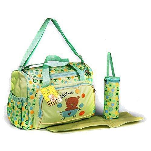 GMMH XXL 3 tlg Baby Farbe grün Wickeltasche Pflegetasche Windeltasche Babytasche Reise Farbauswahl (Reise-baby-puppe)