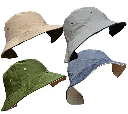 DINZIO-Herren-Fischerhut-Mehrfarbig-mehrfarbig-One-size