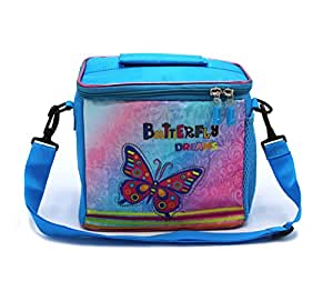 Shopaholic Polyester Butterfly Dreams Blue Kid's Lunch Bag