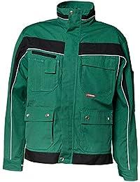 CANVAS Arbeitsjacke Bundjacke Berufskleidung grün/schwarz PLALINE Jacke Gärtner