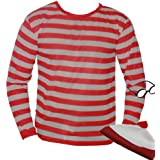 The Dragons Den - Disfraz de Wally para adulto (talla S), color blanco y rojo