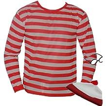 The Dragons Den - Disfraz de Wally para adulto (talla S), color blanco y rojo