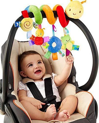 Giochi appendere,culla giocattolo spirale giocattolo di combinazioni multi-animale per bambino lo sviluppo, gioco interattivo con campanella e sonagli per calmare o favorire il sonno dei neonati