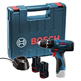 Bosch Professional GSB 1080-2-LI with 2 x 1.5 Ah Batteries, Charger and Carry Case