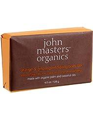 JOHN MASTERS ORGANICS Savon Exfoliant Orange/Ginseng, 128g