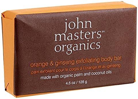 John Masters Organics orange and ginseng exfoliating body bar, Seife, 128 g