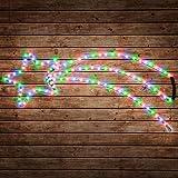 Bakaji Christmas Stella Cometa Luminosa Per Esterno Interno Led Multicolor Con Controller Giochi Di Luce Illuminazione Luci Natalizie Natale 125 x 50 cm