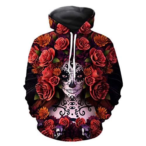 Unisex 3D Druck Hoodie Kapuzenpullover Bunt Langarm Pullover Sweatshirt ◆Elecenty◆ Hoodies Top Blouse Jacke Mantel Outwear Männer Kapuzenpullis Kapuzenpulli